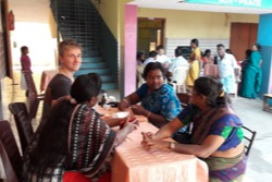A Health Expo' in India (2018), during the mission trip organized by Menorah Mission School